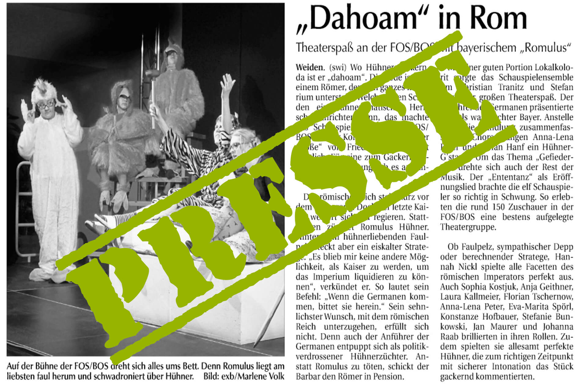 """""""Dahoam"""" in Rom"""