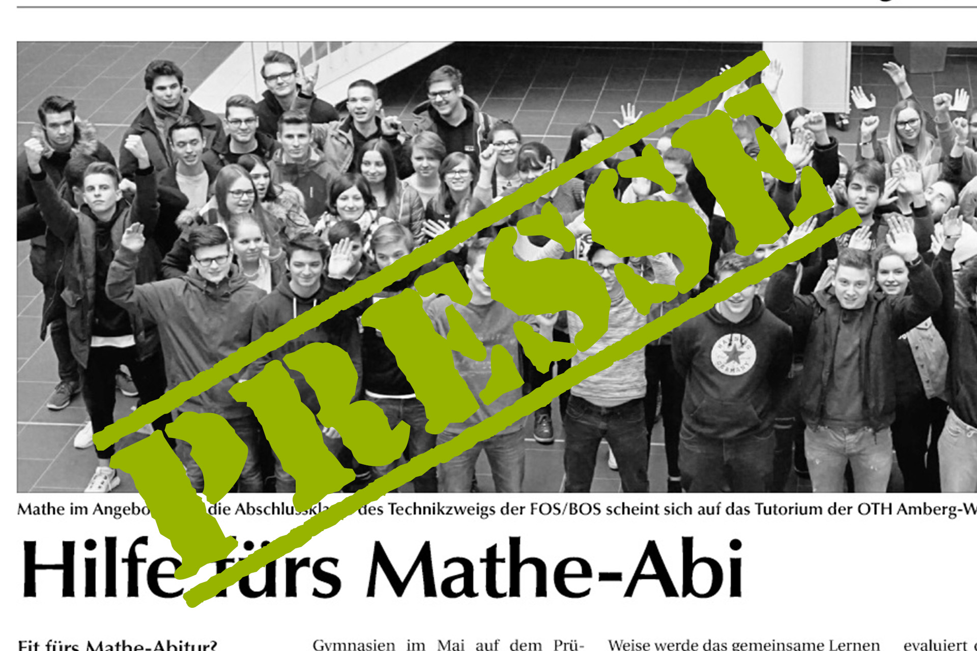 2018 02 18 Presse Clip Mathe Tutorium