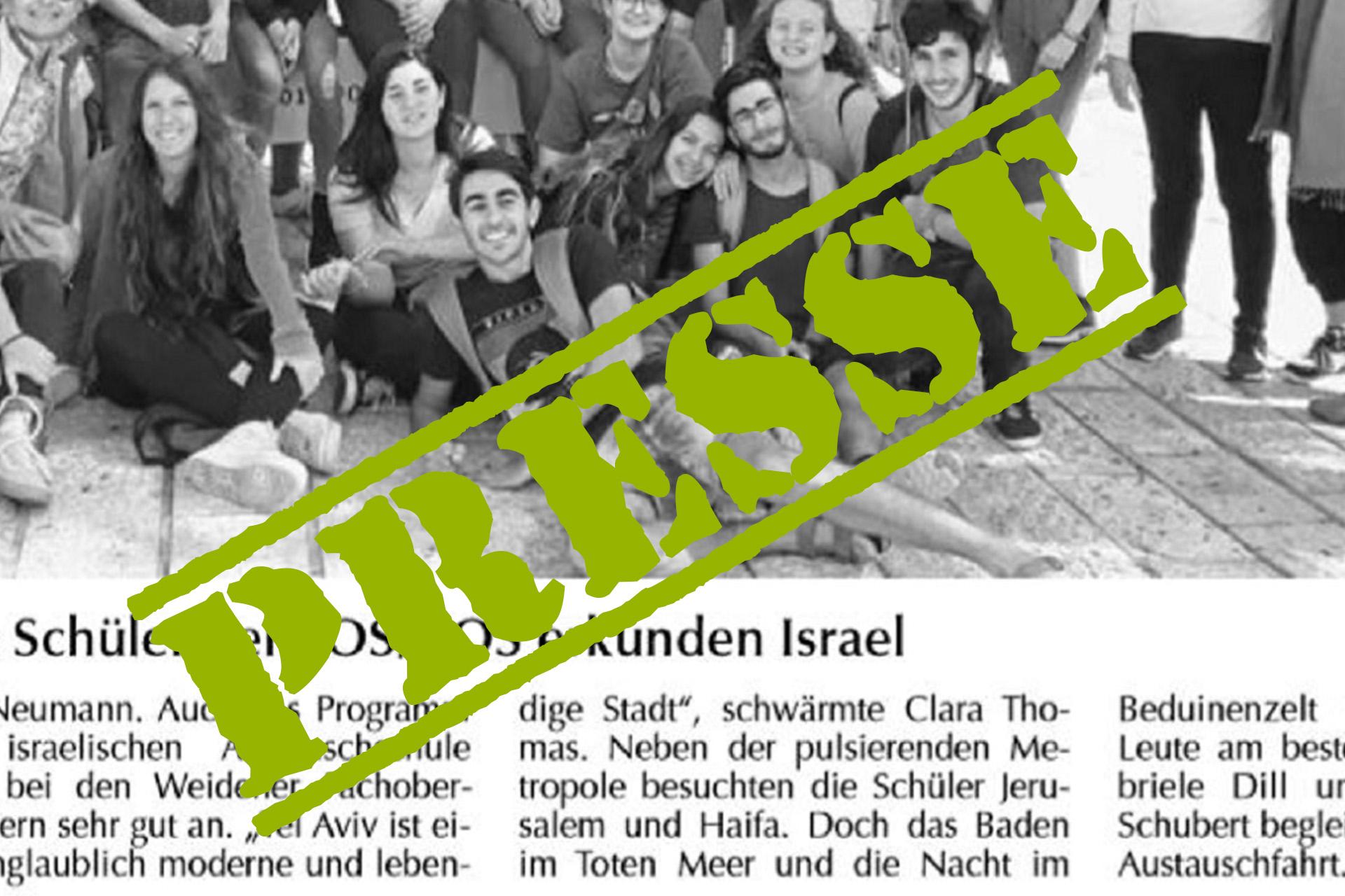 Schüler der FOSBOS erkunden Israel!