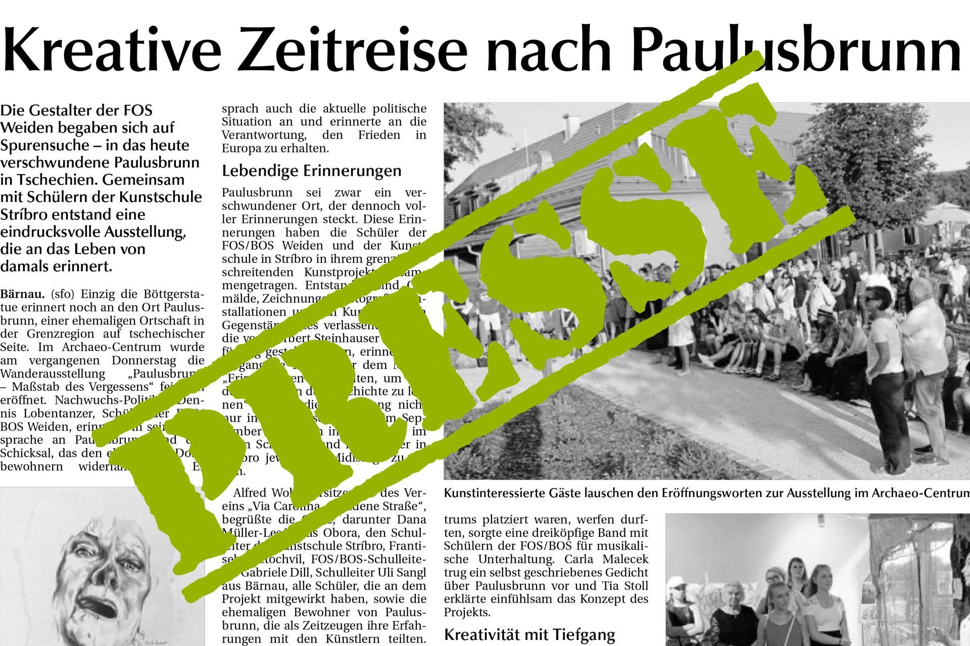 Deutsch-tschechisches Kunstprojekt